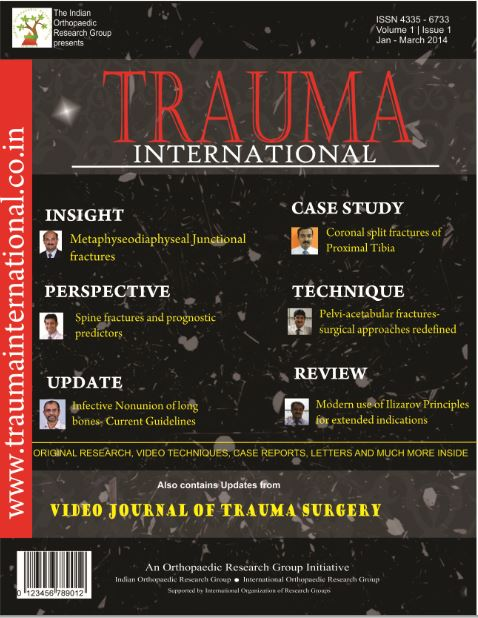 Trauma International - Unique Journal of Trauma and Injury