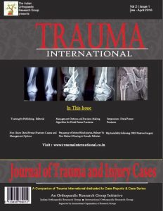 Acetabular Fractures - Trauma International Jan April 2017 Cover